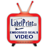 click here for custom embossed foil seals video